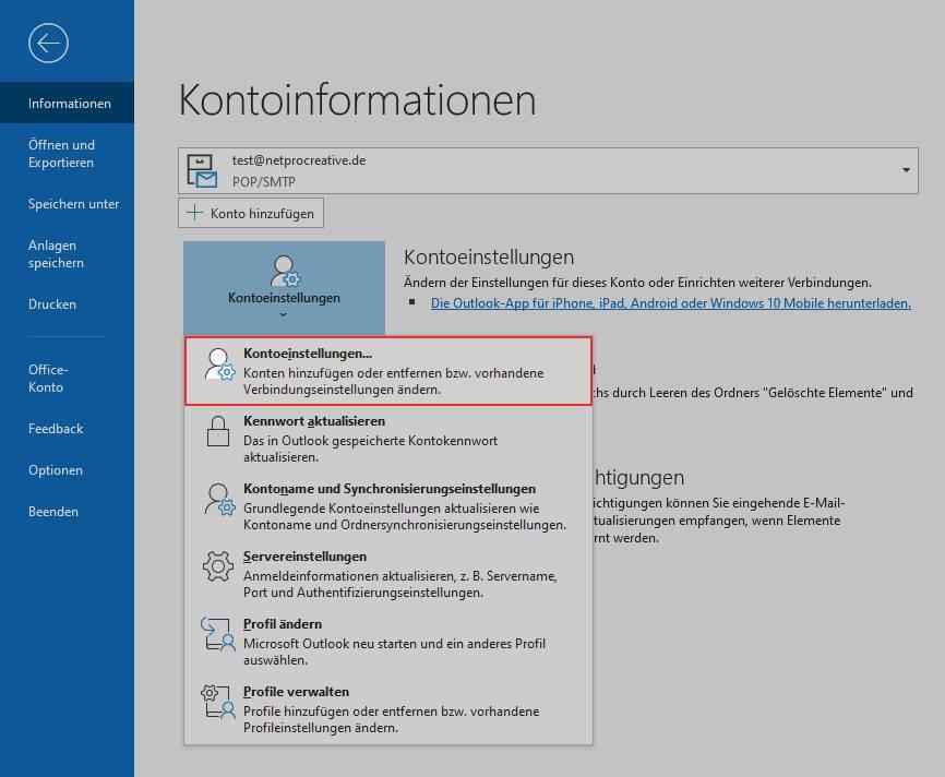 Outlook E-Mails in lokaler Outlook-Datendatei sichern 1